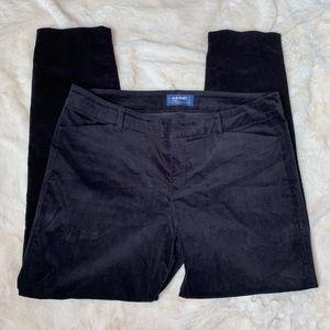 Old Navy Womens Pixie Pants Black Velvet Size 12
